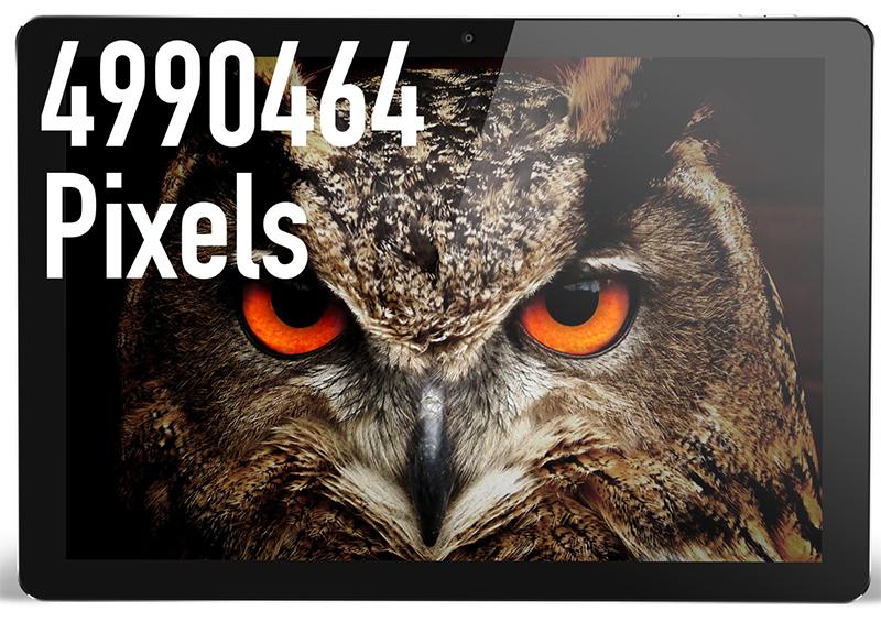 2736×1824の高解像度ディスプレイ