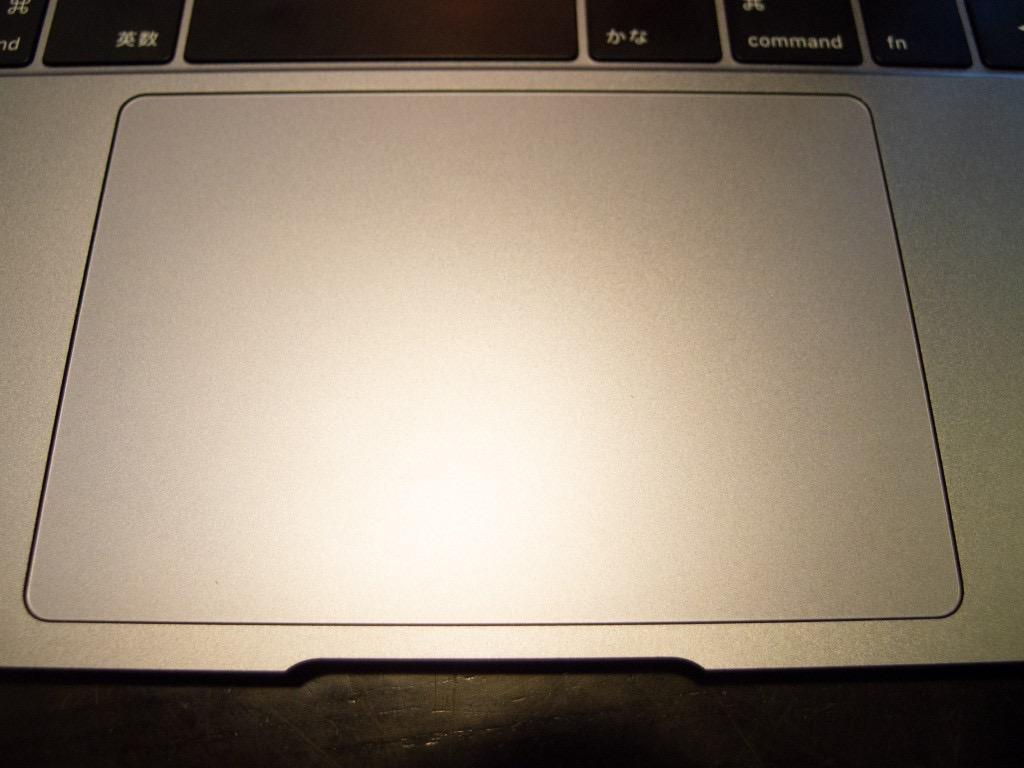 MacBook Air(2018)の感圧トラックパッド