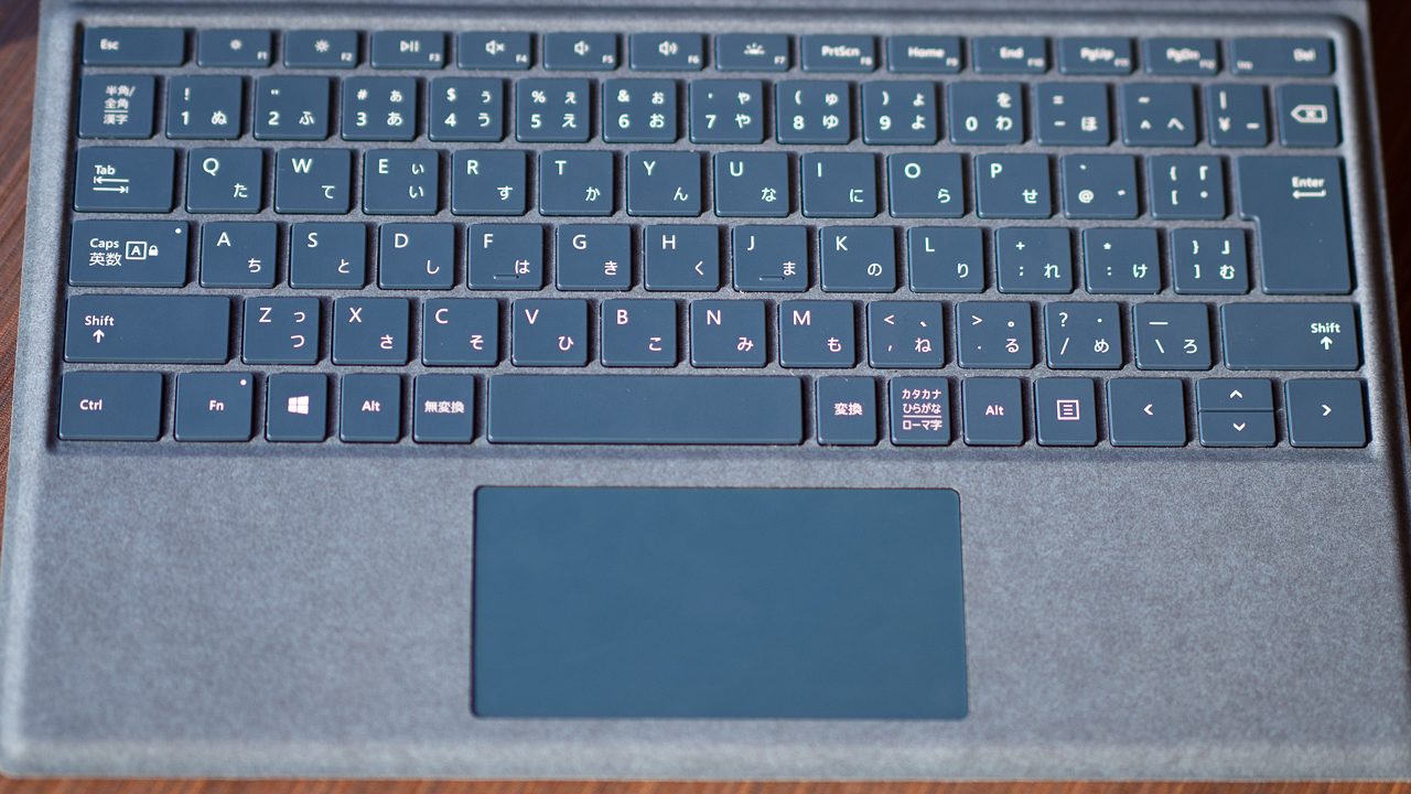 Surface Pro用Type Coverのキー配列